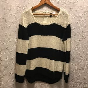 H&M Divided Striped Sweater size L